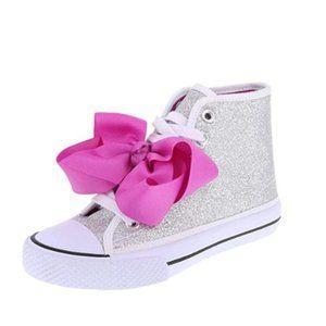 JoJo Siwa 'Legacee' Silver Glitter Bow Sneaker